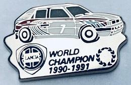 VOITURE LANCIA N°7 - WORLD CHAMPION 1990 - 1991 - CAR - CHAMPION DU MONDE -  AUTO - WELTMEISTER - ELIXYR - LACTON - (25) - Rallye