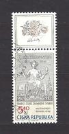 Czech Republic 2002 ⊙ Mi 312 Zf Sc 3163 Max Svabinsky's Stamp From 1938, B. Heinz. Tschechische Republik. C2 - Tchéquie