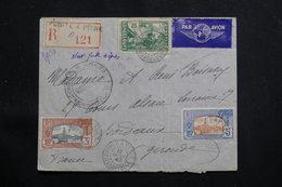 GUADELOUPE - Affranchissement Plaisant Sur Enveloppe En Recommandé De Pointe à Pitre Pour Bordeaux En 1940 - L 60708 - Lettres & Documents