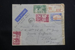 GUADELOUPE - Affranchissement Plaisant Sur Enveloppe De Pointe à Pitre Pour Toulouse En 1939 Avec Contrôle - L 60709 - Lettres & Documents