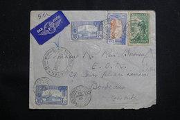 GUADELOUPE - Affranchissement Plaisant Sur Enveloppe De Pointe à Pitre Pour Bordeaux En 1940 Avec Contrôle - L 60710 - Lettres & Documents