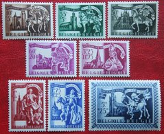 Winterhulp St Martin Secours D'hiver Complete Set 1943 OBP 631-638 (Mi 648-655) POSTFRIS/ MNH ** BELGIE BELGIUM - Unused Stamps