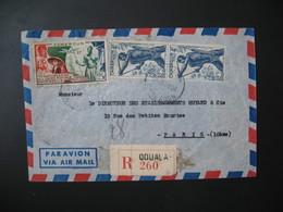 Lettre Recommandé R 260 Cameroun  Douala 1950 Pour La France - Lettres & Documents