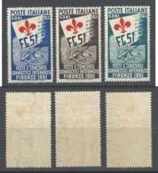 Italia - 1951 - Nuovo/new - Ginnici - Un N. 661/63 - 1946-60: Nuovi