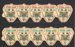 Sierra Leone - 1968 - Nuovo/new MNH - Olympic Games - Mi N. 427/36 - Sierra Leone (1961-...)