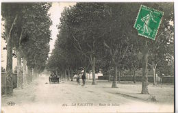 83- La Valette - Var- Route De Solliés - Auto  -  Circulée 1914 - Scans Recto- Verso - La Valette Du Var