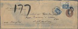 China - Portomarken: 1913, London Printing 1 C. (2, Inc. Inter-panneau Corner Margin) Tied Bilingual - 1949 - ... République Populaire