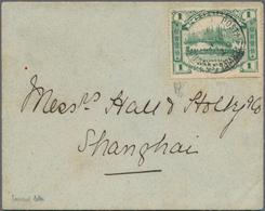 "China - Lokalausgaben / Local Post: Foochow, 1895, 1 C. Green Canc. ""POSTAL SERVICE FOOCHOW AU 10 95 - Zonder Classificatie"
