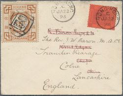 "China - Lokalausgaben / Local Post: Ichang, 1893 2 Ca. Brown Canc. Customs Seal Postmark ""Entai"" (Ch - Zonder Classificatie"