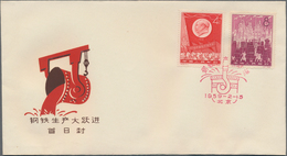 China - Volksrepublik: 1958/65, Seven FDCs Of Commemorative Issues, Including The S22 Ancient Specie - 1949 - ... People's Republic