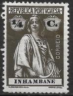 Inhambane – 1914 Ceres Type 1/4 Centavos Mint Stamp - Inhambane