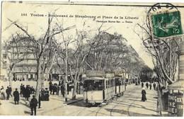 A3 VAR 83 TOULON Le Tramway Et Vespasienne Bd De Strasbourg Et Place De La Liberte 1910 - Toulon