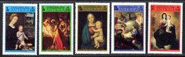 BARBUDA - 1973 CHRISTMAS PAINTINGS SET (5V) FINE MNH ** SG 130-134 - Barbuda (...-1981)