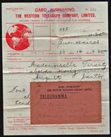 BRESIL (Télégrammes) Très RARE Télégramme Par Câble Sous- Marin Et Illustré, Obl. En 1913 Avec Son Enveloppe............ - Télégraphes