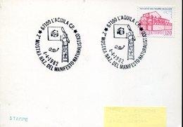54482 Italia, Special  Postmark 1982 L'aquila 1979  Manifesto Naturalistico WWF, - Brieven En Documenten
