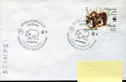 54483 Italia, Special  Postmark 1991 L'aquila 1979 Salvaguardia Natura Fdc Bear,ours, WWF, - Brieven En Documenten