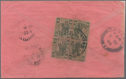 "Malaiische Staaten - Kedah: 1910 Two Covers From Kedah To India Bearing The Scarce Bilingual ""Kedah/ - Kedah"