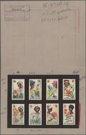 Thematik: Flora, Botanik / Flora, Botany, Bloom: 1966, Guinea. Set Of 8 ORIGINAL ARTIST'S DRAWINGS F - Pflanzen Und Botanik