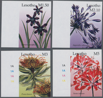 Thematik: Flora, Botanik / Flora, Botany, Bloom: 2004, LESOTHO: Flowers Complete IMPERFORATE Set Of - Pflanzen Und Botanik