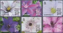 "Thematik: Flora, Botanik / Flora, Botany, Bloom: 2013, Guernsey. Complete Set ""Clematis"" (6 Values) - Pflanzen Und Botanik"