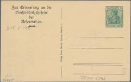 """Thematik: Luther: 1917 Deutsches Reich 5 Pf Privatpostkarte Zur """"400 Jahrfeier Der Reformation"""" Mit - Theologians"""