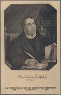 Thematik: Luther: 1917, 400 Jahrfeier Der Reformation, Privatganzsache Deutsches Reich 2 1/2 Neben 7 - Theologians