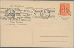 """Thematik: Luther: Dt. Reich 1917, Privat-Postkarte 40 Pf Ziffer Mit Anlasstext """"Feierliche Unterzeic - Theologians"""