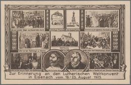 """Thematik: Luther: Dt. Reich 1923, Privat-Postkarte 400 Mark """"Erinnerung An Den Lutherischen Weltkonv - Theologians"""