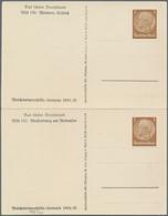 Thematik: Luther: 1934 Deutsches Reich (Reichswinterhilfe) Doppel-Privatpostkarte 3 Pf. Braun Mit Ab - Theologians