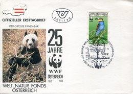 54491 Austria, Fdc With   Special Postmark 1988  Pro Natura  , Panda  WWF,  25 Year In Austria - Brieven En Documenten