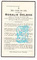 DP Rosalie Delboo ° Poperinge 1861 † 1937 - Andachtsbilder