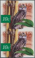 Australien: 1996, 10 C. Großer Buschkauz Im Senkrechten Ungezähnten Postfrischen Paar - 2000-09 Elizabeth II
