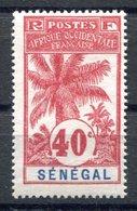 RC 17447 SENEGAL COTE 21€ N° 40 PALMIER TRÈS FRAIS NEUF ** TB MNH VF - Unused Stamps