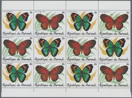Burundi: 1984, Butterflies Complete Set Of 10 In Se-tenant Pairs In Blocks Of 12 (six Sets), Mint Ne - Burundi