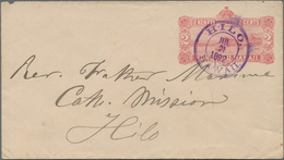 Hawaii - Ganzsachen: 1892 Postal Stationery Envelope 2c. (View Of Honolulu Harbor), Used In Hilo Loc - Hawai