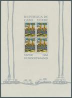 """Kap Verde: 1985, Lot Von 3 Blocks """"Schiffahrt"""" (nach Einem Gemälde Von Hundertwasser), Jeder Block M - Islas De Cabo Verde"""