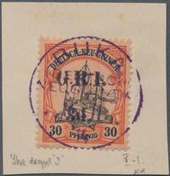 Neuguinea - Australische Besetzung 1914/1915: 1914-15 3d. On 30pf. Black & Orange/buff, Overprint Sh - Colonie: Nouvelle Guinée