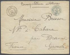 "Sudan: 1899, Feldpostbrief Von ""Porto-Novo Benin"" Nach Frankreich, Transitstempel ""Etablissements Du - Soedan (1954-...)"