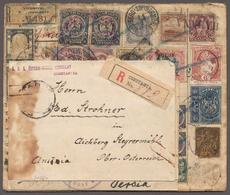 Tahiti: 1907 R-Brief Aus Österreich Als Einschreiben-Irrläufer Mit Etlichen Exotischen Ländern Wie Z - Tahiti