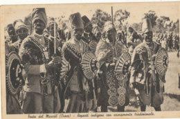 ERYTHREE )) FESTA DEL MASCAL  Reparti Indigeni Con Armamento Traditionale / Fete Des Masques / Indigenes - Eritrea
