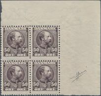Dänemark: 1904-06 Christian IX. 50 øre Lilac, Top Right CORNER BLOCK OF FOUR, Mint Never Hinged, Sma - 1905-12 (Frederik VIII)