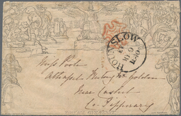Großbritannien: 1840 Mulready 1d. Envelope A 154 (form 2) Used On MAY 9th 1840, The Third Official D - 1840-1901 (Viktoria)