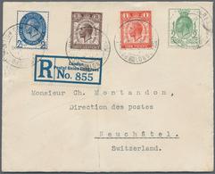 Großbritannien: 1929 Kpl. Satz UPU Auf Weißem Kl. Vordruckumschlag Auf Einschreibebrief Mit Selt. SO - 1902-1951 (Könige)