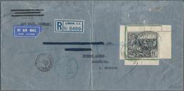 "Großbritannien: 1929, UPU Congress 1 ₤, A Right Corner Margin Copy Canc. Oval ""REGISTERED LONDON CHI - 1902-1951 (Könige)"