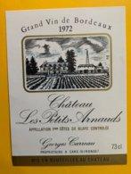 14144 - Château Les Petits Arnauds Côtes De Blaye 1972 - Bordeaux