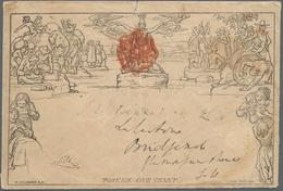 Großbritannien - Ganzsachen: 1840, MULREADY Used In IRELAND, 1 D Mulready Envelope With Number 'A 14 - 1840 Mulready-Umschläge