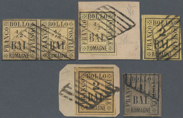 Italien - Altitalienische Staaten: Romagna: 1859,½ Baj, Horizontal Pair (with Diena Cert), ½ Baj On - Romagne