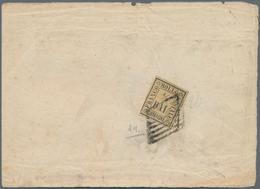 Italien - Altitalienische Staaten: Romagna: 1859, 1/2 Baj Yellow, Three Wide Margins, A Little Bit T - Romagne