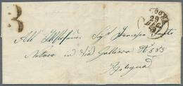 Italien - Altitalienische Staaten: Romagna: 1859, ½baj. DIAGONALLY BISECTED In Pair With ½baj., On R - Romagne