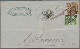 Italien - Altitalienische Staaten: Romagna: 1859, 8. July, Provisional Government, 2 Baj Live Green - Romagne